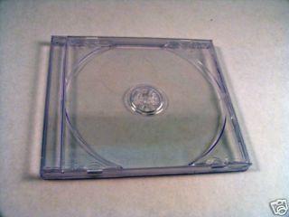 200 CD DVD Jewel Case Standard Clear 10 4mm Storage Box