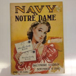 vs Notre Dame Football Program. Famous Dee Lovely Cover.Elmer Layden