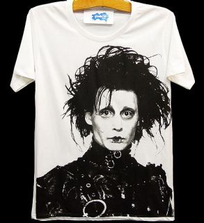 Edward Scissorhands Johnny Depp Retro Movie T Shirt s M