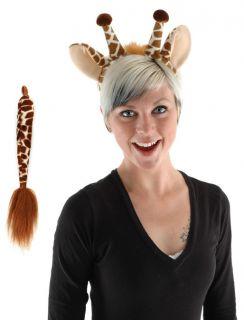 Giraffe Ears Tail Adult Child Kids Costume Kit Elope New
