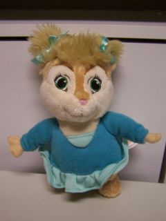 Alvin Chipmunks Chipettes Eleanor Plush Doll Squeakquel