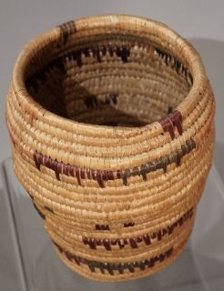 C1950 YuPIK Yupik Eskimo Native American Indian Sea Grass Basket