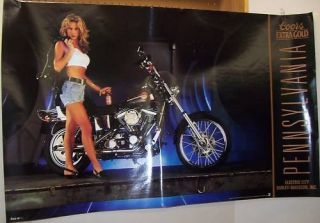 Coors Beer Harley Davidson Electric City Poster