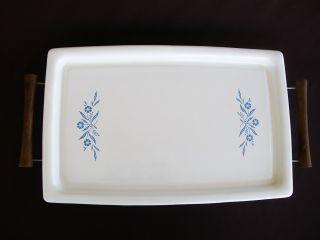 Cornflower Blue Warming Electric Hot Plate Meat Serving Platter