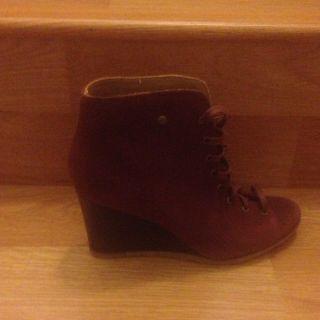 New UGG Australia Elyse Cinnamon Suede Flat Platform Heel Ankle Boot $