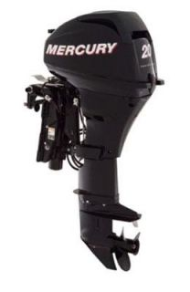 Mercury 20 HP Electric Start 4 Stroke Outboard Motor 20 Power Trim