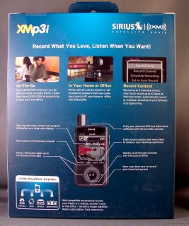 Sirius XPMP3H1 XM XMp3i Portable Satellite Radio MP3