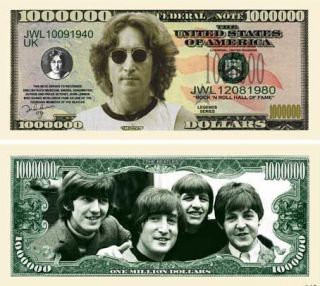 THE BEATLES / JOHN LENNON / ONE MILLION DOLLAR BILL / NOVELTY FEDERAL