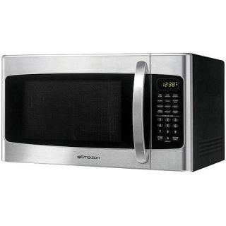 Emerson 1.1 cu ft Microwave Oven Stainless Steel Front Finish