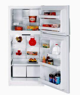GE 18 CF Top Freezer Refrigerator White Energy Star RH