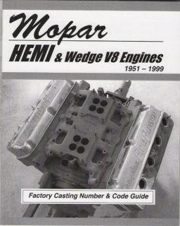 Chrysler Mopar Dodge Ply Engine Casting Number ID Book