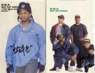 Eazy E Hand Signed Autograph N w A Dr Dre Ice Cube Eazy E Rap Hip Hop
