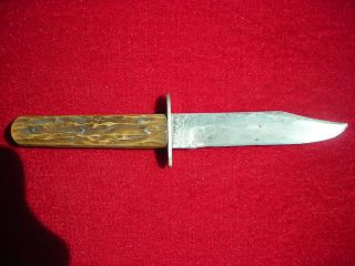 Early Vintage Ebro Alfred Williams Shefield England Bowie Knife Bone