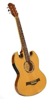 STOCK THIN LINE SG ACOUSTIC / ELECTRIC DOUBLE CUTAWAY GUITAR