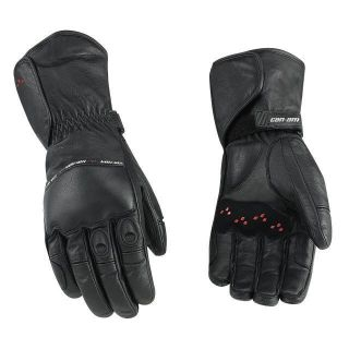 Motorcycle New Leather Riding Gloves Black Long XL Extra Large