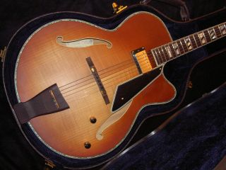 New 17 Peerless Jazz City Archtop Electric Guitar w HSC