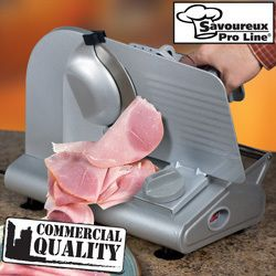 Savoureux Pro Line Electric Meat Slicer   Professional Quality