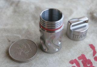 Titaner Survival Kit Titanium Waterproof Storage Capsule Container