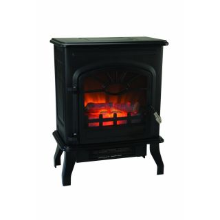 1500 Watt Wood Stove Style Electric Heater Flame Effect