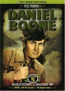 Fess Parker as Daniel Boone Seasons 1, 2 & 5 DVD Box Sets, 83 Episodes