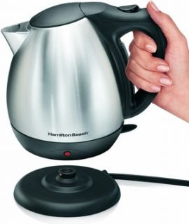 Hamilton Beach Electric Kettle Stainless Steel 10 Cup Teapot Hot Water
