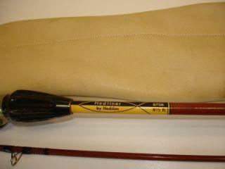 Vintage Heddon Hedliner 2 Piece 6 1 2 Casting Rod Custom Leather