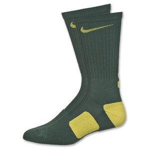 Nike Elite Socks Noble Green Yellow Streak Large 8 12 Jordan Oregon