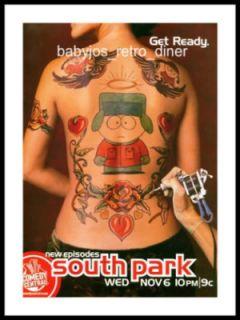 South Park Television Show Eric Stan Kyle Broflovski Tattoo Print Ad