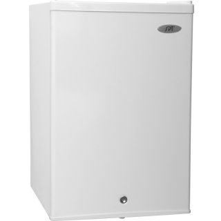 Cubic Foot Upright Freezer w Locking Reversible Door Compact 0°F