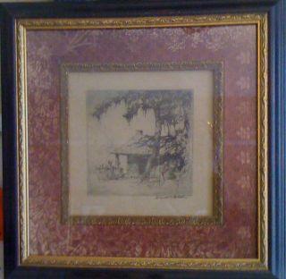 Cabins Vintage Prints Framed Artist Elizabeth Verner Horace D Welch