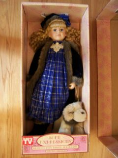 Expressions Large 30 Elizabeth Doll w Stand Puppy Box Papers
