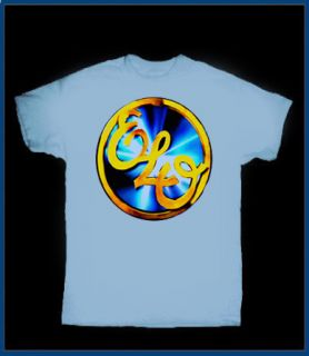ELO Electric Light Orchestra vintage gold logo T SHIRT JEFF LYNNE ROCK