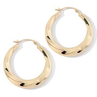Jewelry Earrings Hoop 14K Yellow Gold Swirled Hoop Earrings