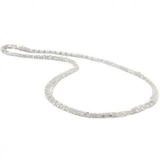 Necklaces Chain La dea Bendata Diamond Cut Multi Strand 17.5 Necklace