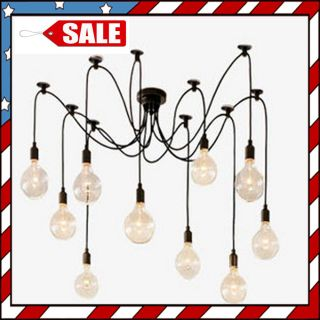 Edison Chandelier Remote Control Inc Light Bulb not Inc Pendant Lamp