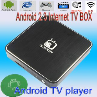 Android2 3 TV Box HDMI 1080p WiFi Internet TV Set Top Box MKV Media