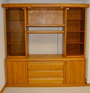 Sale Amish Furniture Entertainment Centers Woods TV Wall Unit Made USA