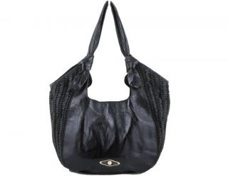 Elliott Lucca Angeline Soft Leather Lightweight Slouch Hobo Black $198
