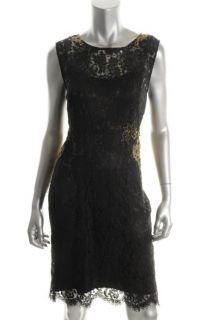 Elie Tahari New Estelle Black Lace Sleeveless Lined Cocktail Evening