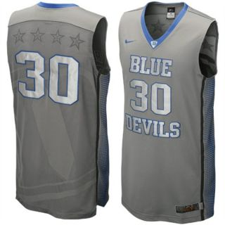 New $120 Nike Hyper Elite Platinum Duke Blue Devils Game Jersey Size
