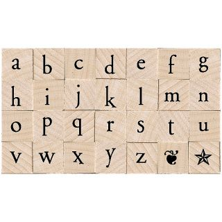 Scrapbooking Hero Arts Printers Type Lowercase Alphabet Wood Stamp