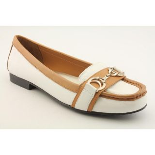 Etienne Aigner Lexi Womens Size 8 5 White Leather Loafers Shoes