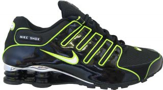 Nike Shox NZ EU Mens Trainer Black White Volt UK 6 5 to 11 Style