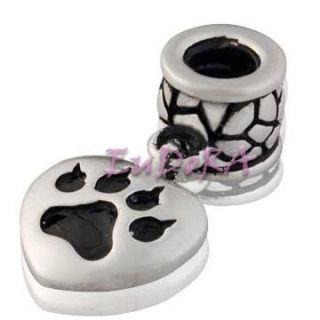 Eudora Christmas I Love My Cat Silver Bead Charm S1194