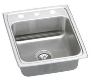 Elkay LRAD1720653 Lustertone Kitchen Sink Single Bowl 3H Stainless