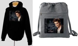 Team Edward Twilight Hoodie Backpack Style Book Bag Set