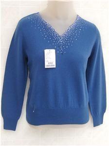 ERDOS Womens World Finest 100% Cashmere Sweater Shirt M Inner Mongolia