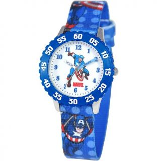 Marvel Marvel Kids Captain America Stainless Steel Time Teacher Watch