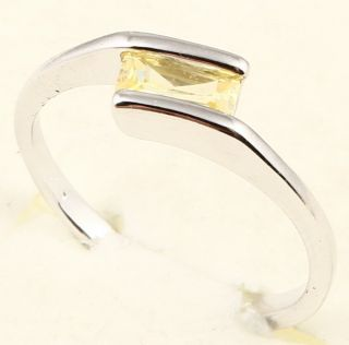 3x6mm Emerald Cut Yellow Sapphire 65 Ring