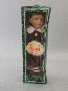 Emerald Doll Collection Red Dress Porcelain Doll